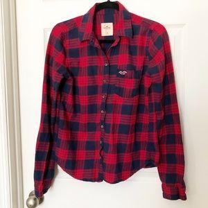HOLLISTER flannel plaid button down